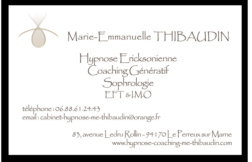 Carte de visite - Emmanuelle V0007