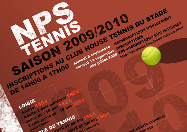 FEUILLET D'INSCRIPTION 04 - TENNIS - miniature